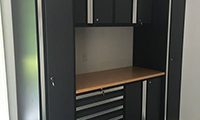 Pro Series grey cabinets. Sometimes the smallest space can have the biggest impact.